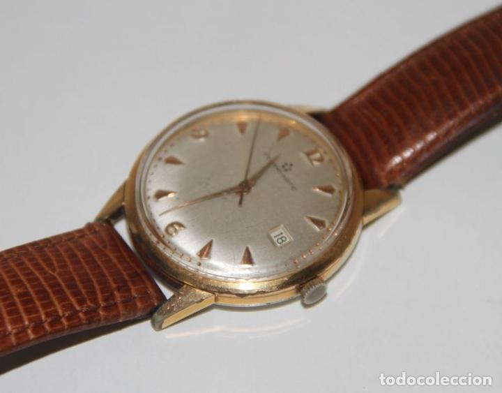 Relojes automáticos: RE399 ETERNA-MATIC VINTAGE. PLAQUÉ ORO. FUNCIONA. SUIZA. AÑOS 50 - Foto 3 - 63106416