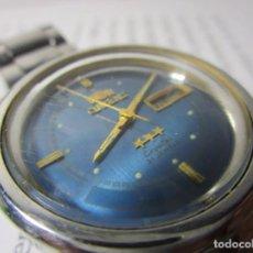 Relojes automáticos: ANTIGUO RELOJ ORIENT 21 JEWELS AUTOMATICO HOMBRE 36MM TABLERO RARO AZUL BLUE JEANS VINTAGE. Lote 63273848