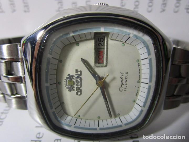 e4ce4f6fa453 11 fotos ANTIGUO RELOJ ORIENT 21 JEWELS AUTOMATICO CRYSTAL JAPAN HOMBRE  36MM VINTAGE WU (Relojes - Relojes ...