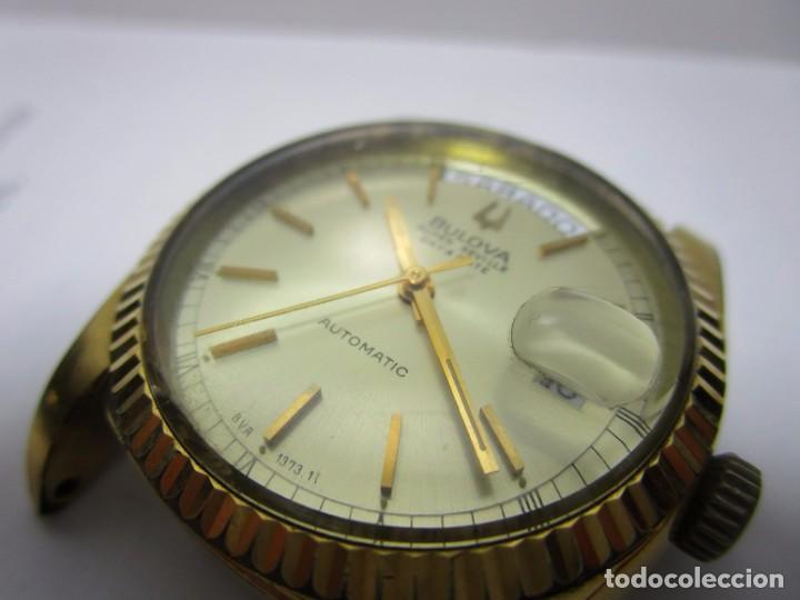 Relojes automáticos: ANTIGUO RELOJ BULOVA SUPER SEVILLE DAY DATE PRESIDENCIAL AUTOMATICO HOMBRE 37mm CHAPADO ORO VINTAGE - Foto 5 - 63604124