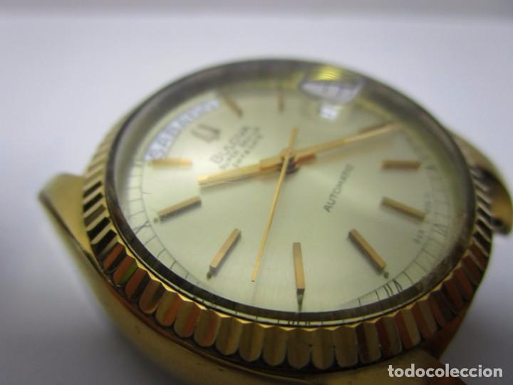 Relojes automáticos: ANTIGUO RELOJ BULOVA SUPER SEVILLE DAY DATE PRESIDENCIAL AUTOMATICO HOMBRE 37mm CHAPADO ORO VINTAGE - Foto 6 - 63604124