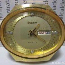 Relojes automáticos: ANTIGUO VINTAGE RELOJ BULOVA PRESIDENCIAL AUTOMATICO HOMBRE 40MM CHAPADO ORO RARO ESCASO WU. Lote 63604276