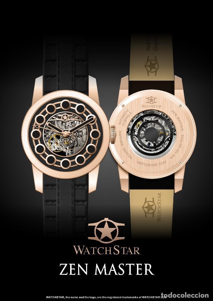 Relojes automáticos: watchstar Master Rosa Oro Esmalte Negro Esqueleto Automatico Reloj exótico 47mm - Foto 3 - 65654186