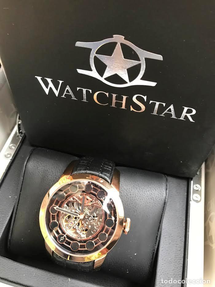 Relojes automáticos: watchstar Master Rosa Oro Esmalte Negro Esqueleto Automatico Reloj exótico 47mm - Foto 5 - 65654186