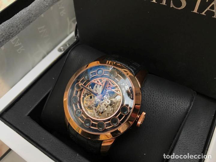 Relojes automáticos: watchstar Master Rosa Oro Esmalte Negro Esqueleto Automatico Reloj exótico 47mm - Foto 6 - 65654186