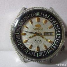 Relojes automáticos: ANTIGUO RELOJ ORIENT AUTOMATICO TRES TORNILLOS CAJA GRANDE TABLERO HABANO REFERENCIA MUY ESCASA WU. Lote 67734641