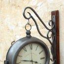Relojes automáticos: RELOJ DE ESTACION DE HIERRO, EDINBURGH CLERK WORKS LONDON CON PEANA DE MADERA, REL365. Lote 88267518