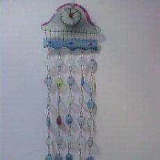 Relojes automáticos: RELOJ DE PARED - SUPER ORIGINAL !!! VIDRIO Y ELEMENTOS EN COBRE - P R E C I O S A !!!. Lote 71954799