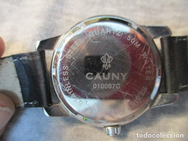 Relojes automáticos: Reloj suizo de pulsera CAUNY CHRONOGRAPH 50 METERS - Foto 8 - 73571887