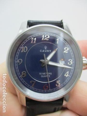Relojes automáticos: Reloj suizo de pulsera CAUNY CHRONOGRAPH 50 METERS - Foto 9 - 73571887