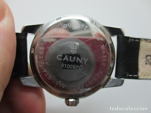 Relojes automáticos: Reloj suizo de pulsera CAUNY CHRONOGRAPH 50 METERS - Foto 10 - 73571887