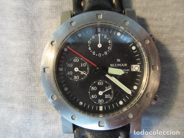 Relojes automáticos: RELOJ BLUMAR CRONOMETRO Y DIA, WATER 50 MTS - Foto 3 - 73587859