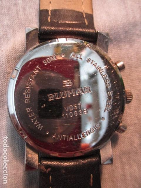 Relojes automáticos: RELOJ BLUMAR CRONOMETRO Y DIA, WATER 50 MTS - Foto 6 - 73587859
