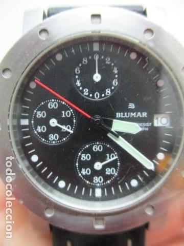 Relojes automáticos: RELOJ BLUMAR CRONOMETRO Y DIA, WATER 50 MTS - Foto 8 - 73587859