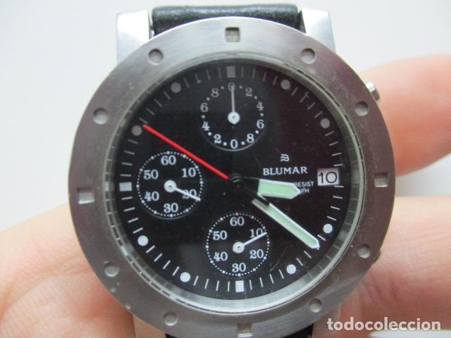 Relojes automáticos: RELOJ BLUMAR CRONOMETRO Y DIA, WATER 50 MTS - Foto 9 - 73587859