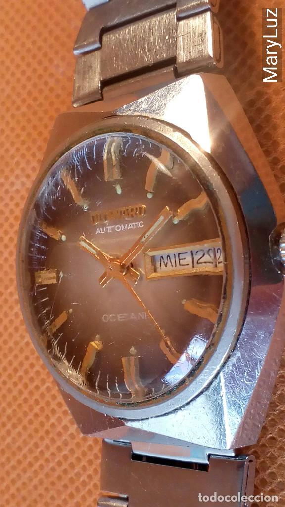 Relojes automáticos: DUWARD OCEANIC AUTOMÁTICO. Calendario mensual y semanal. Cristal facetado. - Foto 4 - 74187387