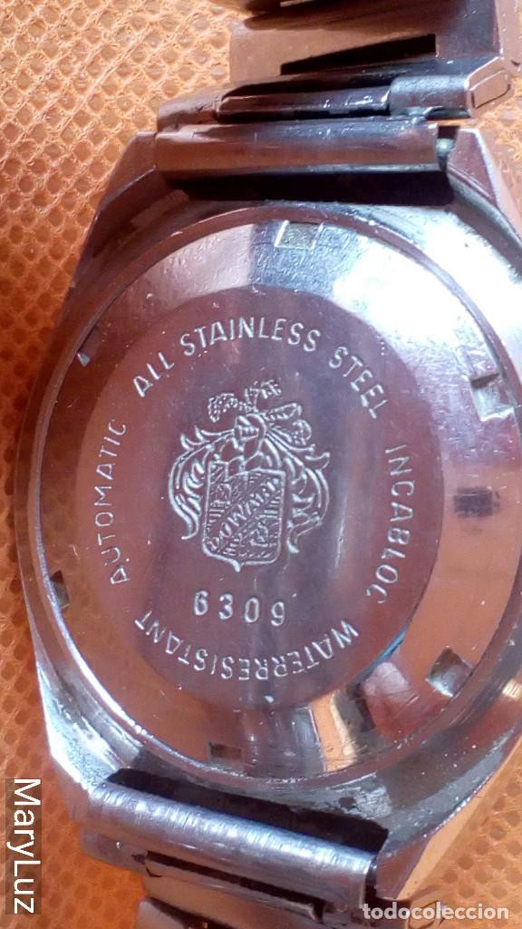 Relojes automáticos: DUWARD OCEANIC AUTOMÁTICO. Calendario mensual y semanal. Cristal facetado. - Foto 8 - 74187387