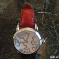 Relojes automáticos: RELOJ DE SEÑORA TOUS KAOS ORIGINAL CON CORREA DE PIEL ROJA. NO IMITACIÓN.. Lote 76876047