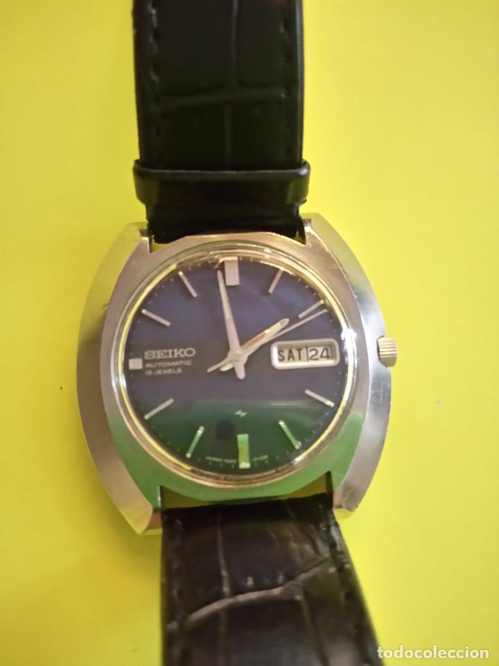 Relojes automáticos: ANTIGUO SEIKO. AÑOS 70. AUTOMATICO - FUNCIONANDO. 41 MM. 19 RUBIS. Nº 380165 DESCRIPCION Y FOTOS - Foto 2 - 84720527