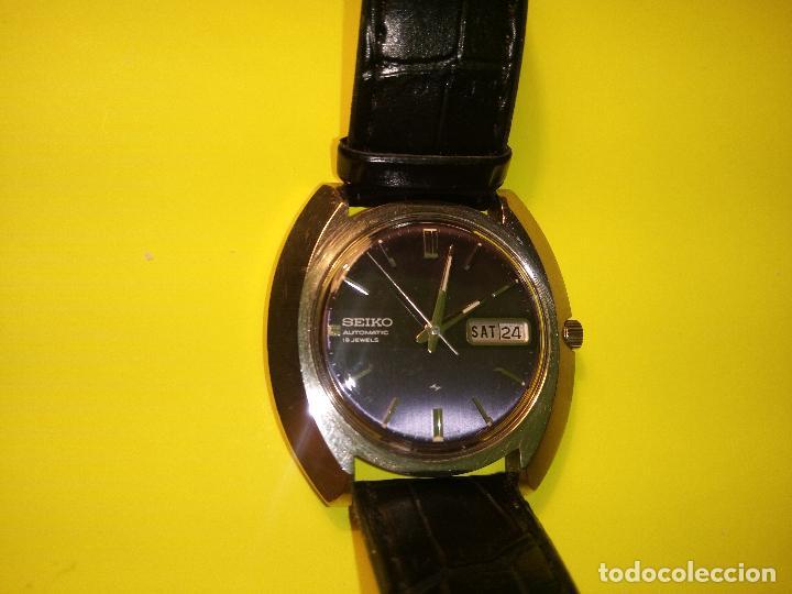 Relojes automáticos: ANTIGUO SEIKO. AÑOS 70. AUTOMATICO - FUNCIONANDO. 41 MM. 19 RUBIS. Nº 380165 DESCRIPCION Y FOTOS - Foto 8 - 84720527