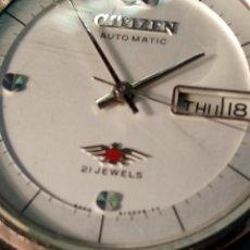 Relojes automáticos: CITIZEN AUTOMATICO. AÑOS 70. 21 R. FUNCIONANDO. EXCEL. ESTADO. DESCRIP. Y FOTOS DIVERS. Lote 77727033