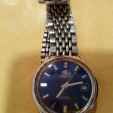Relojes automáticos: RELOJ DE PULCERA ORIENT 21 JEWELS AUTOMATIC CORREA METALICA ORIGINAL FUNCIONANDO. Lote 78350913