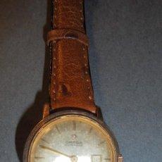 Relojes automáticos: OMEGA - ANTIGUO RELOJ AUTOMATICO CHAPADO ( OMEGA AUTOMATIC ) CALENDARIO - FUNCIONANDO 3,5X3,3 CM. . Lote 113554574