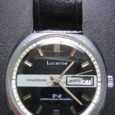Relojes automáticos: RELOJ DE CABALLERO LUCERNE. NO FUNCIONA. Lote 80352533