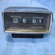 Relojes automáticos: ANTIGUO RELOJ MECÁNICO A PILAS. NO128 TOKIO JAPON. PUBLICIDAD MEDICAMENTO METAMPICILINA Y DOCTAMICIN. Lote 81515132