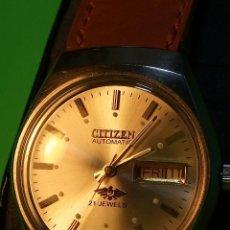 Relojes automáticos: CITIZEN AUTOMATICO. 21 RUBI. 36 MM. FUNCIONANDO. PERFECTO ESTADO. DESCRIPCION Y FOTOS DIVER. Lote 81601992