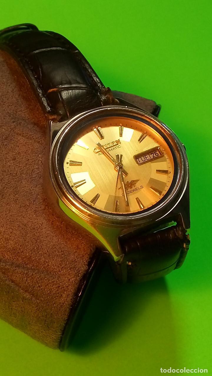 Relojes automáticos: CITIZEN - AUTOMATICO. 21 RUBI. FUNCIONANDO. 37 MM. PERFECTO. DESCRIPCION Y FOTOS. - Foto 2 - 81742968