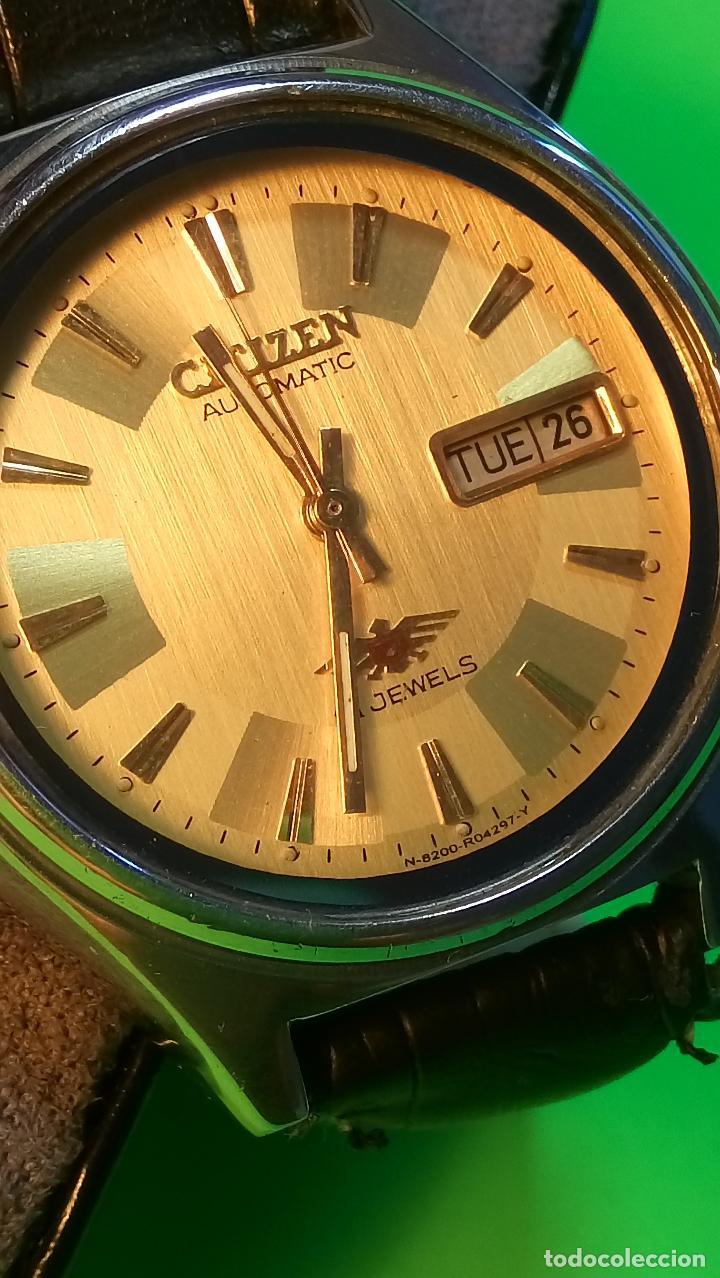 Relojes automáticos: CITIZEN - AUTOMATICO. 21 RUBI. FUNCIONANDO. 37 MM. PERFECTO. DESCRIPCION Y FOTOS. - Foto 3 - 81742968