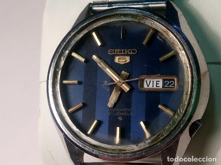 SEIKO 5 - AUTOMATICO. AÑOS 70. 37 MM. 21 RUBI. FUNCIONANDO. PERFER CONSERVACION. DESC.Y FOTOS (Relojes - Relojes Automáticos)