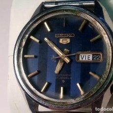 Relojes automáticos: SEIKO 5 - AUTOMATICO. AÑOS 70. 37 MM. 21 RUBI. FUNCIONANDO. PERFER CONSERVACION. DESC.Y FOTOS. Lote 261231640