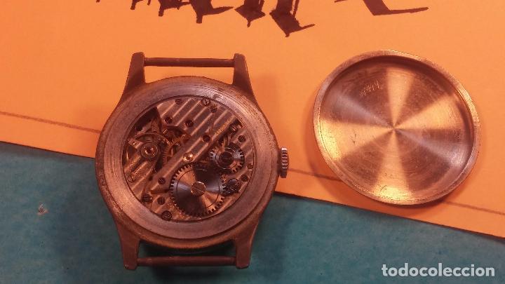 Relojes automáticos: Botito antiguo reloj CAUNY GENEVE 15 RUBIS, de cuerda, funcionando, esfera muy botita, pasador fijo - Foto 8 - 85178232