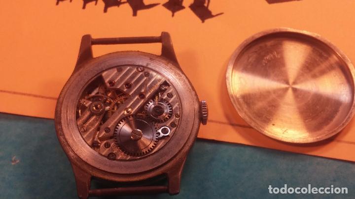 Relojes automáticos: Botito antiguo reloj CAUNY GENEVE 15 RUBIS, de cuerda, funcionando, esfera muy botita, pasador fijo - Foto 9 - 85178232