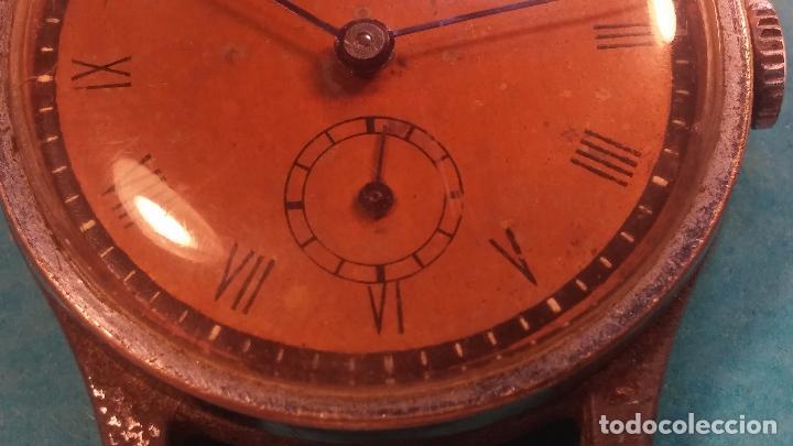 Relojes automáticos: Botito antiguo reloj CAUNY GENEVE 15 RUBIS, de cuerda, funcionando, esfera muy botita, pasador fijo - Foto 11 - 85178232