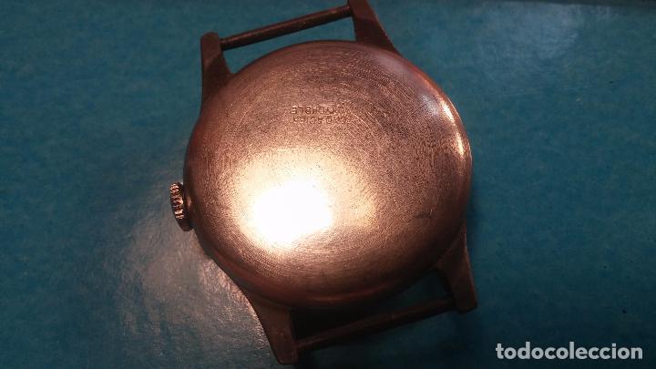 Relojes automáticos: Botito antiguo reloj CAUNY GENEVE 15 RUBIS, de cuerda, funcionando, esfera muy botita, pasador fijo - Foto 15 - 85178232