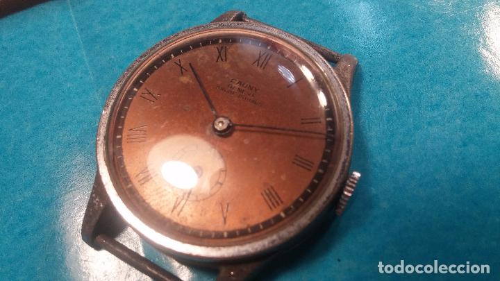 Relojes automáticos: Botito antiguo reloj CAUNY GENEVE 15 RUBIS, de cuerda, funcionando, esfera muy botita, pasador fijo - Foto 16 - 85178232