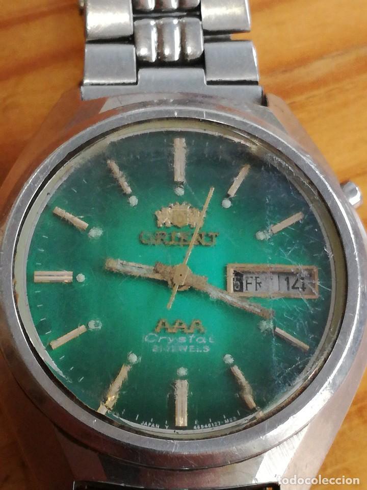 Relojes automáticos: PRECIOSO RELOJ ORIENT AUTOMATICO, AÑOS 70, ESFERA VERDE. - Foto 2 - 241187450