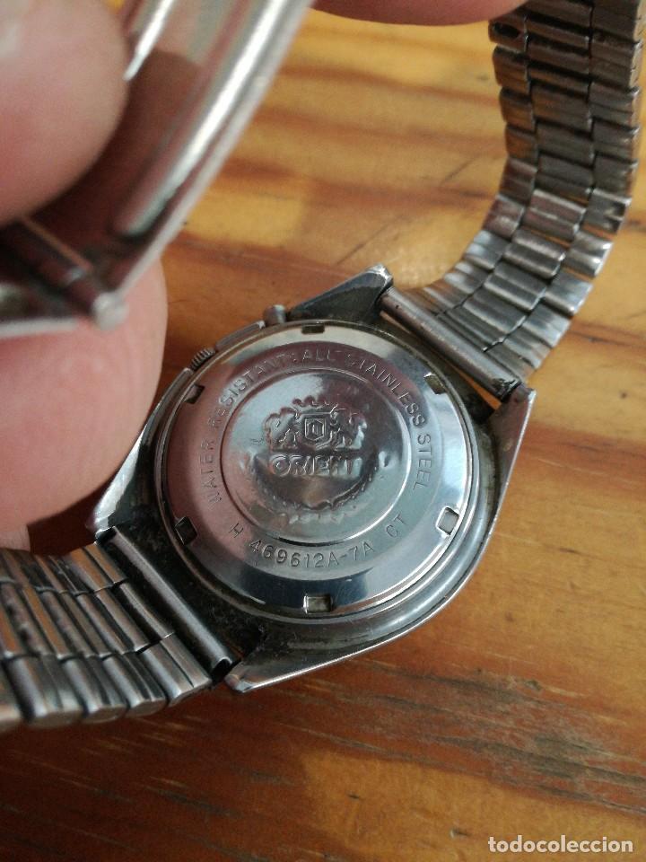 Relojes automáticos: PRECIOSO RELOJ ORIENT AUTOMATICO, AÑOS 70, ESFERA VERDE. - Foto 3 - 241187450