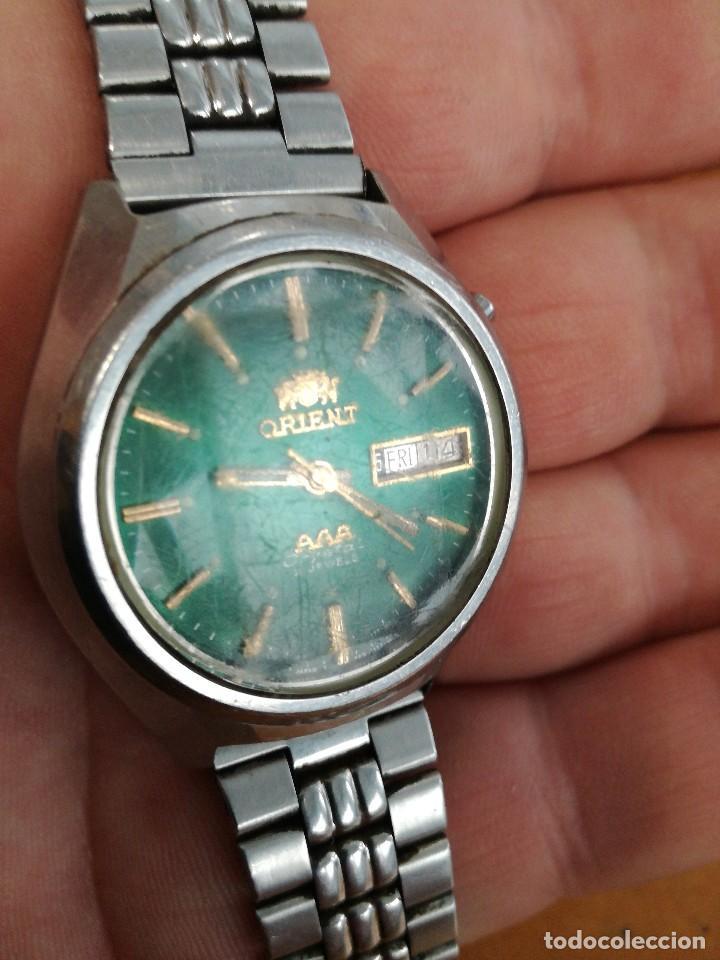 Relojes automáticos: PRECIOSO RELOJ ORIENT AUTOMATICO, AÑOS 70, ESFERA VERDE. - Foto 4 - 241187450