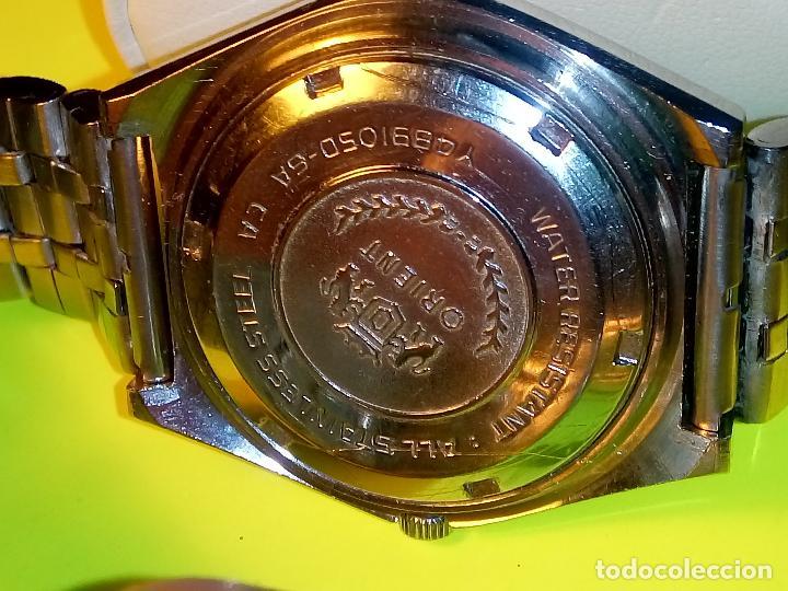 Relojes automáticos: ANTIGUO ORIENT DE LOS 70. 21 R. AUTOMATICO. 39 MM. FUNC. ((( CRISTAL Y PULSERA NUEVOS))). DESCRIP. - Foto 8 - 85986596