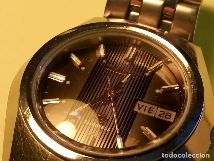 Relojes automáticos: ANTIGUO ORIENT DE LOS 70. 21 R. AUTOMATICO. 39 MM. FUNC. ((( CRISTAL Y PULSERA NUEVOS))). DESCRIP. - Foto 14 - 85986596