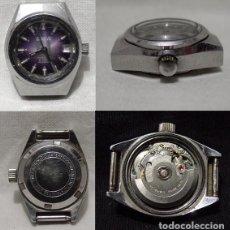 Relojes automáticos: GENEVE. ANTIGUO RELOJ SUIZO ACERO-21 RUBÍS-CALENDARIO-AUTOMÁTICO-IMPERMEABLE-ANTIMAGNÉTICO. (RF). Lote 86758156