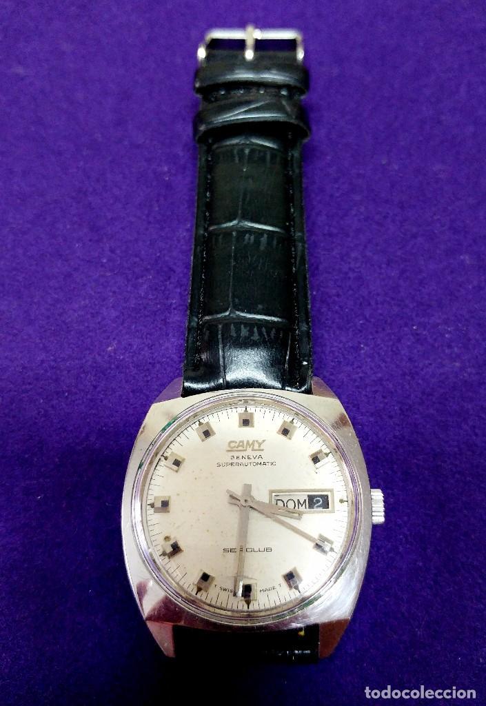 ANTIGUO RELOJ DE PULSERA CAMY. SEACLUB. AUTOMATICO. EN FUNCIONAMIENTO. AÑOS 60-70. SWISS. CABALLERO (Relojes - Relojes Automáticos)