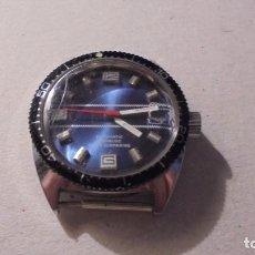 Relojes automáticos: ANTIGUO RELOJ AÑOS 70 CAJA DE ACERO - AUTOMATICO , - AUTOMATIC INCABLOC SUPER SUBMARINO . FUNCIONA .. Lote 90280032