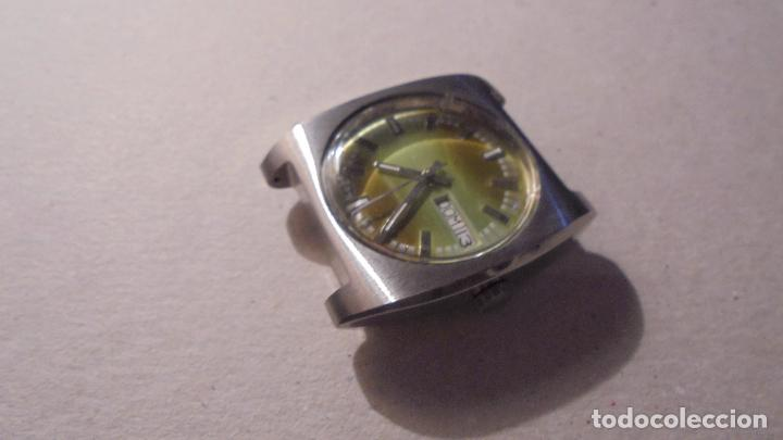 Relojes automáticos: ANTIGUO RELOJ AÑOS 70 AUTOMATICO - CAJA DE ACERO ALL STAINLESSSTEEL WATERRESISTANTANTIMAGNETIC - Foto 3 - 90418454