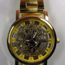 Relojes automáticos: RELOJ ESQUELETO DGJUD DE PULSERA - CUARZO. Lote 91663690