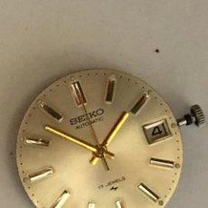Relojes automáticos: MAQUINARIA RELOJ SEIKO CALENDARIO VINTAGE. Lote 98508464